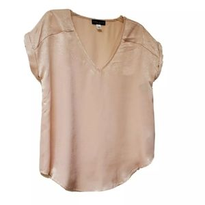NWT SIMPLY STYLED PINK SATIN BLOUSE LARGE